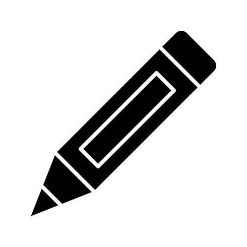 Bleistift Glyphe schwarze Ikone
