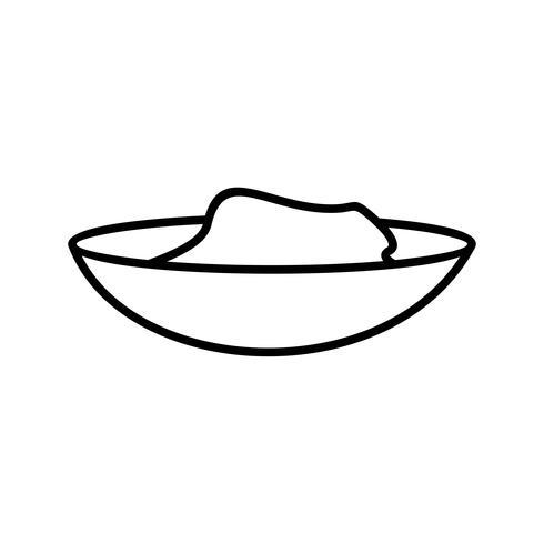 Cementvak lijn lijn zwart pictogram