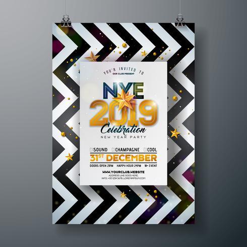 Affiche de fête de nouvel an