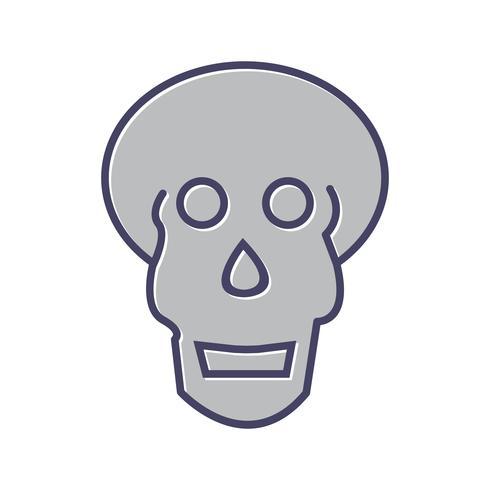 Schedel x ray lijn gevuld pictogram