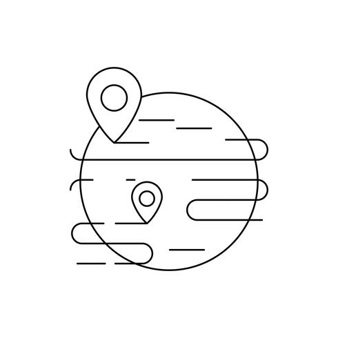 Markeringslijn zwart pictogram