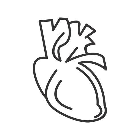 heart  line black icon
