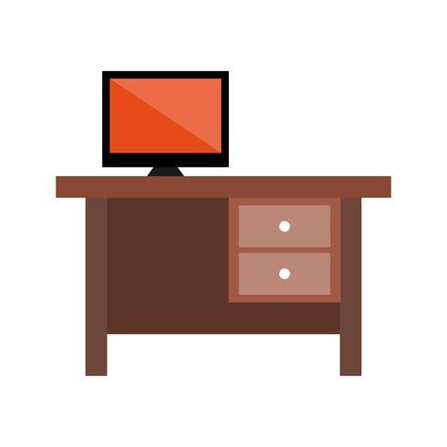 Bureau plat multi kleur pictogram