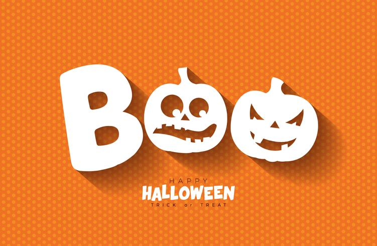 Boo, Happy Halloween-ontwerp vector