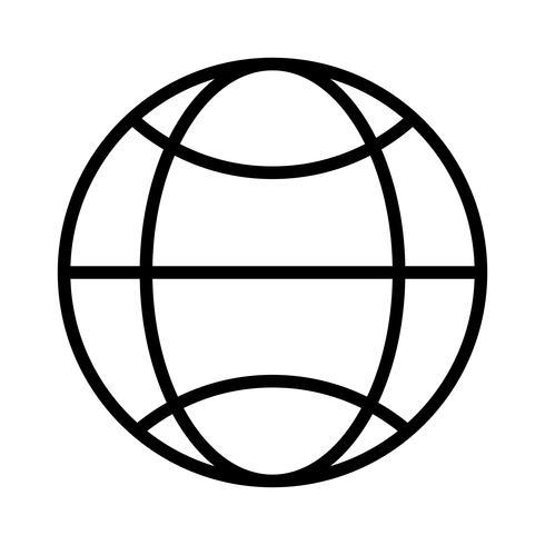 Wereldlijn zwart pictogram