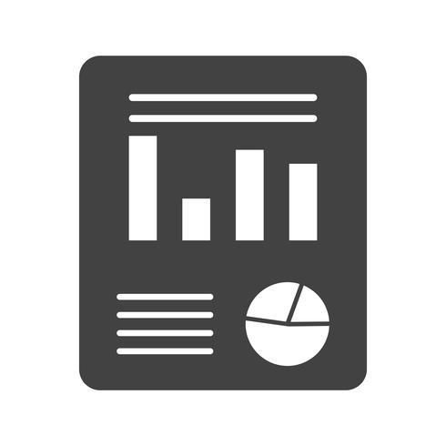 Businessplan glyph zwart pictogram