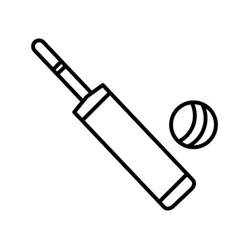 Icona di pipistrello e palla linea nera