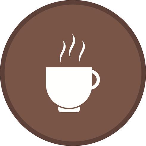 Tea cup glyph round circle multi color