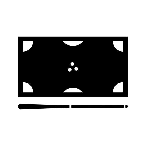 Biljart glyph zwart pictogram