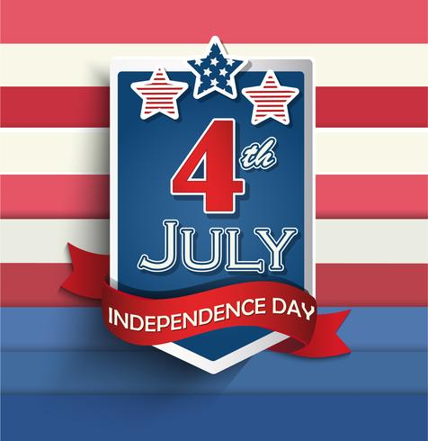 Independence day badges. vector