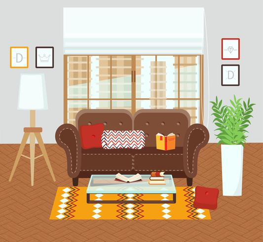 Interior of a living room.