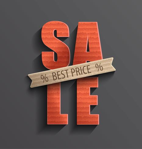 Sale with best price banner.