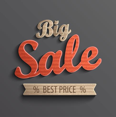 Iscrizione grande vendita per banner.
