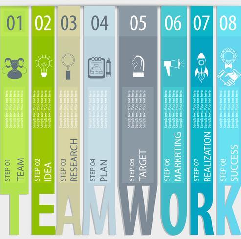 Concepto de trabajo en equipo - infografía. vector