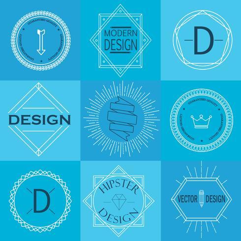 Conjunto de insígnias Vintage retrô e logotipos.