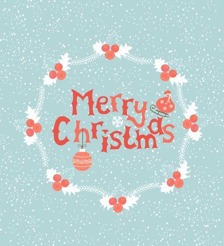 Grußkarte für Weihnachten.