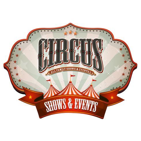 Banner de circo de carnaval con tapa grande