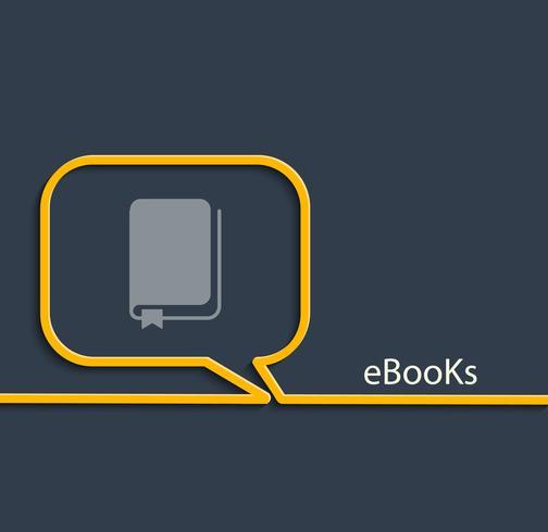 Ebook, ilustração vetorial.
