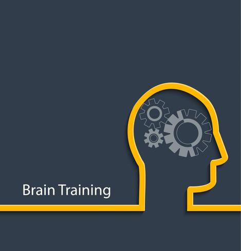 Brain training, vector.