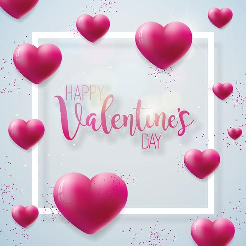 Happy Valentines Day Illustration  vector