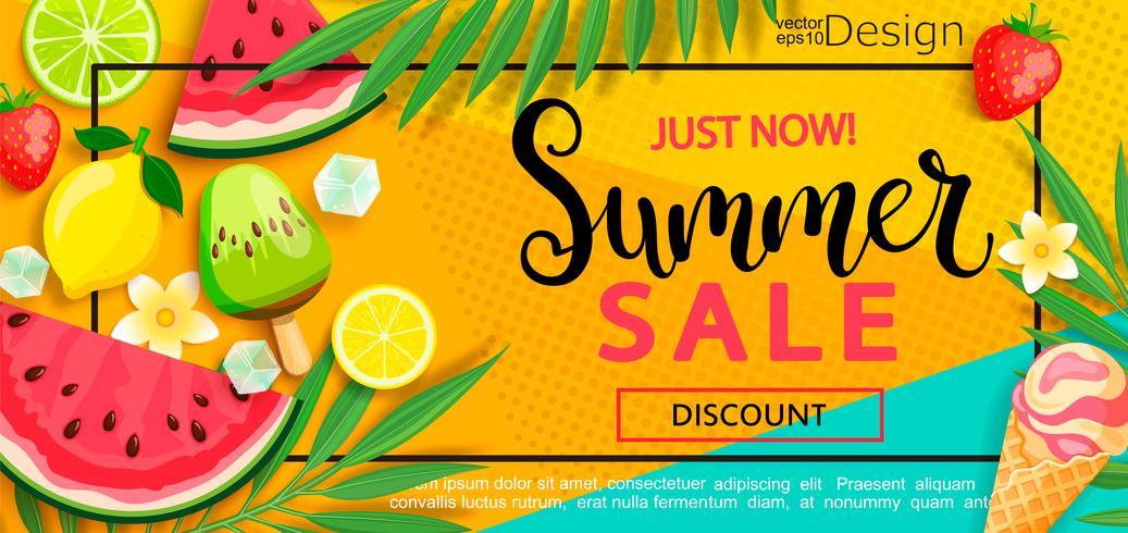 Super sale flyer with gourmet food. vector