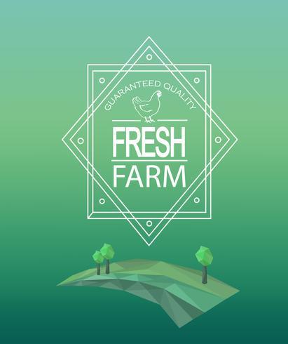 Logotype frais de ferme de vecteur.