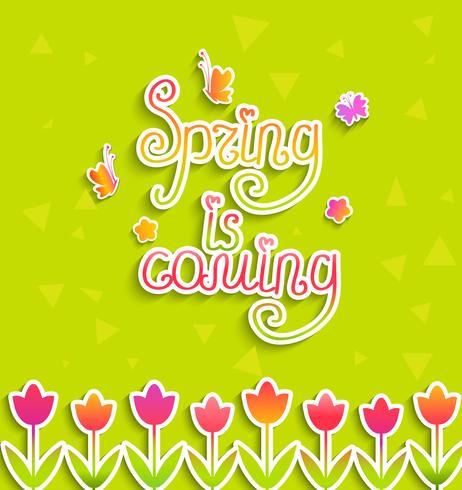 Fundo de primavera, vetor.