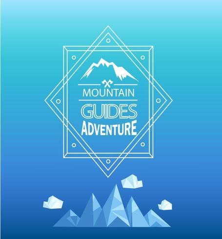 Vector emblema de la montaña.