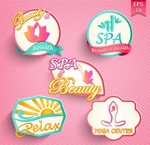Set of spa and beauty