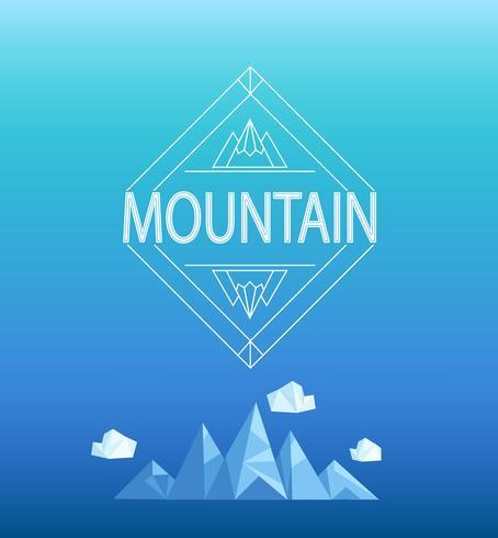 Emblema de la montaña, vector