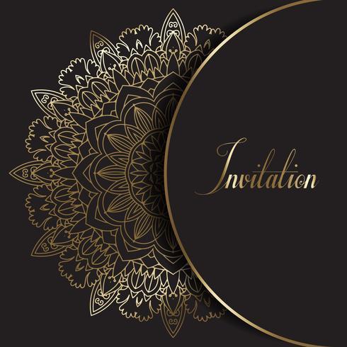 Decoratieve Mandala ontwerp uitnodiging