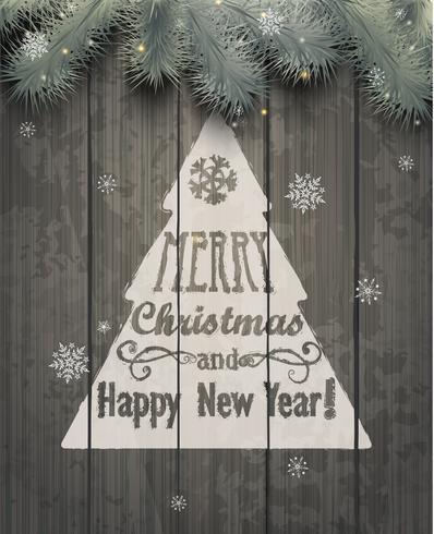 Tarjeta de felicitación de navidad Ilustraciones vectoriales