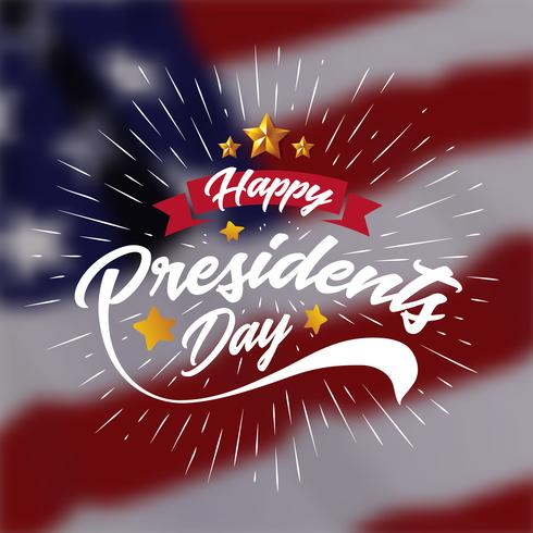 Fond de bannière de présidents heureux jour et cartes de voeux. Illustration vectorielle