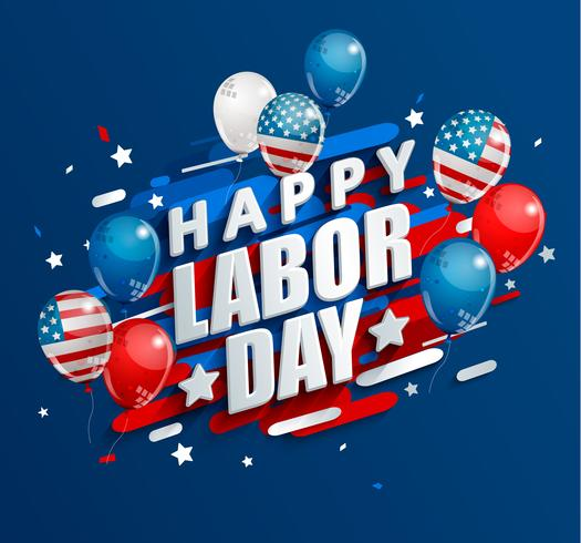 Happy Labor Day holiday banner. vector