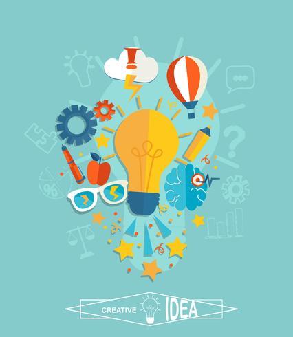 Conceptual de la idea creativa.