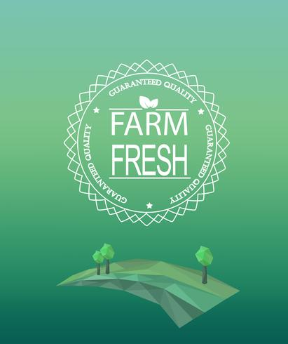 Fazenda fresco logotipo no estilo de estrutura de tópicos.