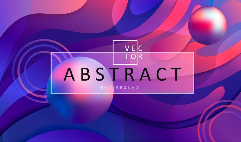 Abstract gradient background with balls and frame. vector