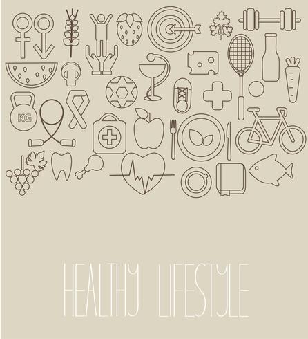 Begreppet hälsosam livsstil.