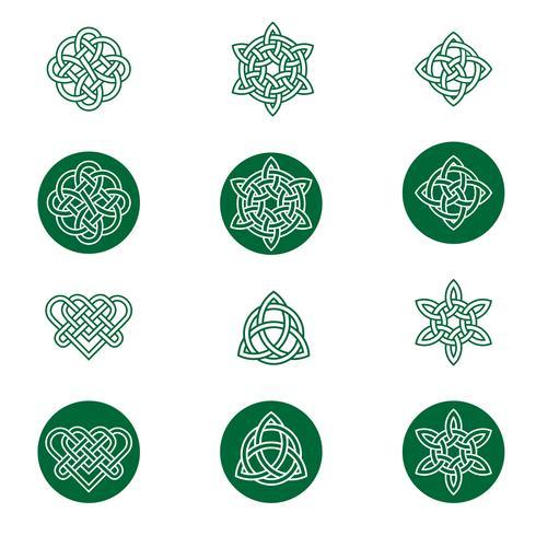 Keltische knoop pictogrammen