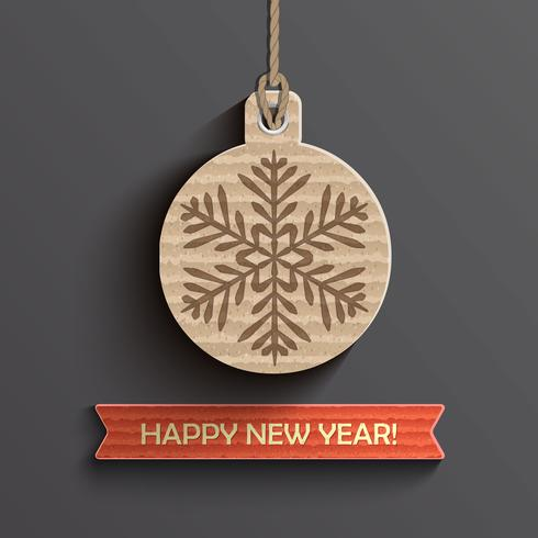 New Year card. vector