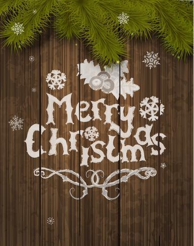 Cartão de saudação de Natal de vetor.