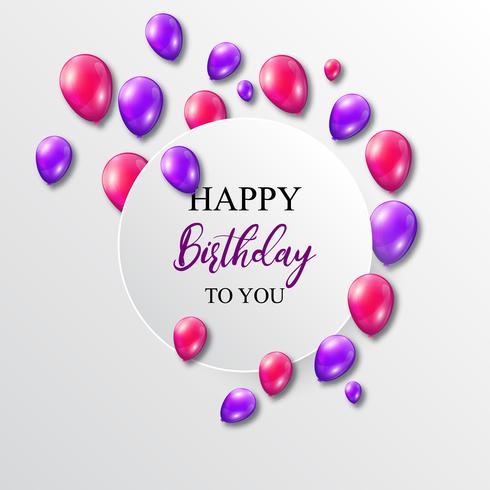 Illustrazione vettoriale di un compleanno con palloncini