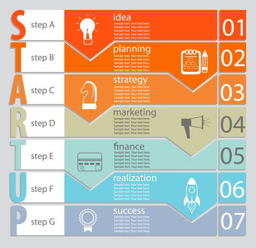 Infographic of Startup concept.