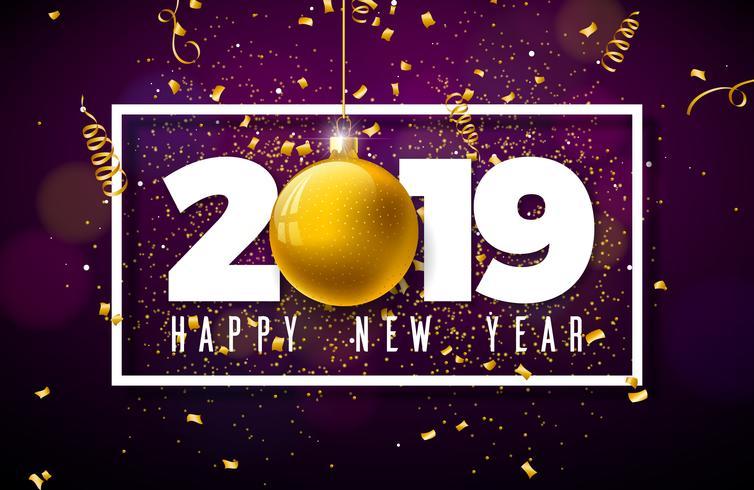 2019 Happy New Year illustration  vector