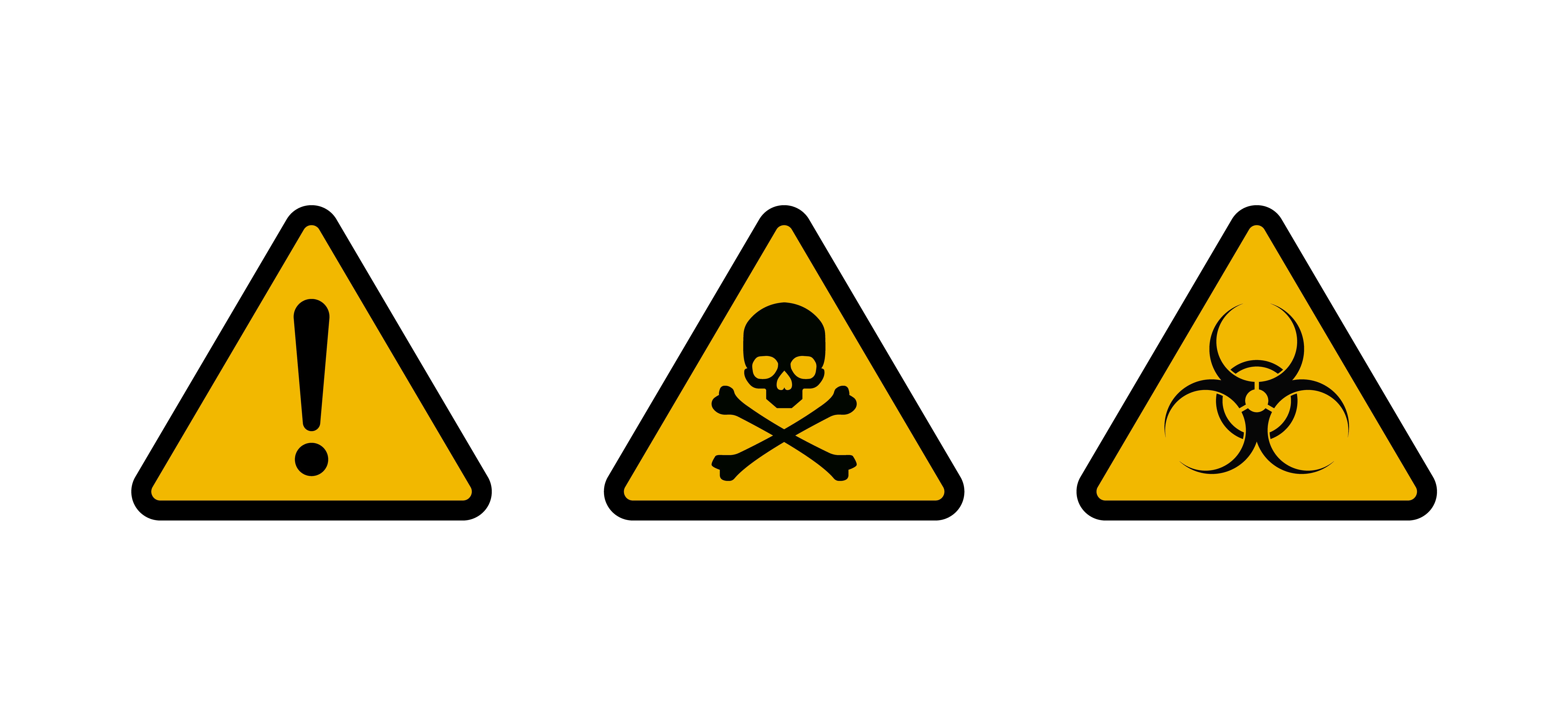 Vector de señales de advertencia y cintas. - Descargar