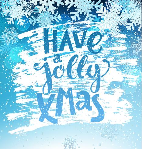 Tener una tarjeta de Navidad alegre.