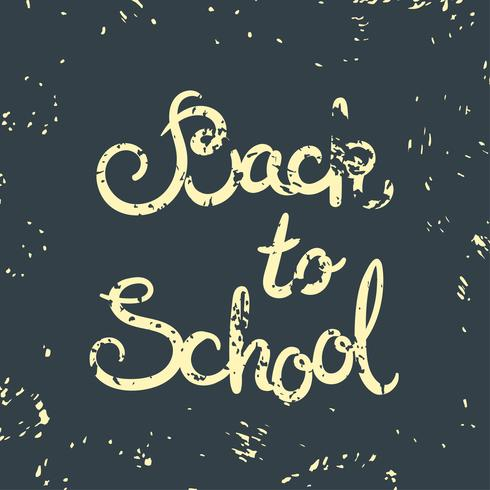 Zurück zur Schulkarte. Vektor-Illustration
