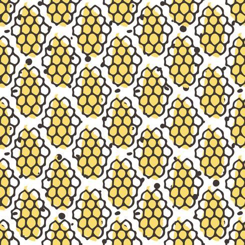 Nahtloses Muster des Vektornatur-Honigs. Bio Hand gezeichnetes Design.