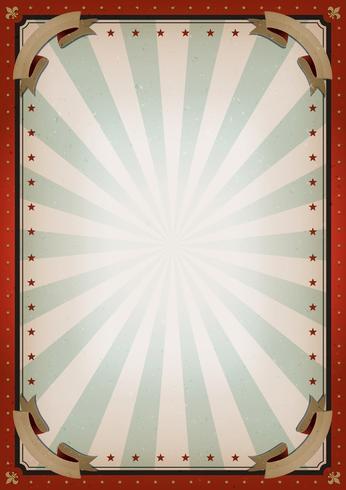 Sinal de cartaz de circo em branco vintage