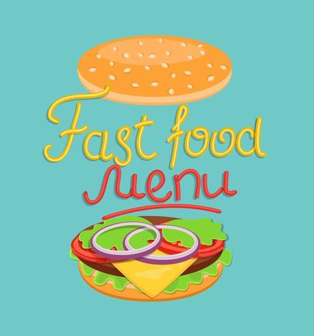 Menú de comida rápida. vector